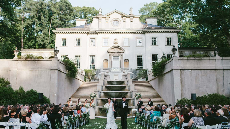 wedding at Swan House Gardens