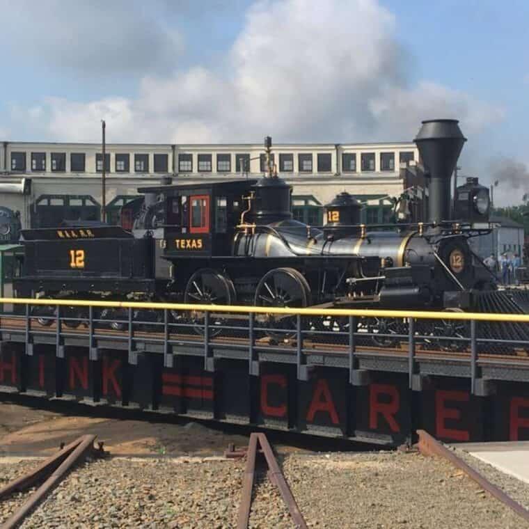the texas locomotive outside