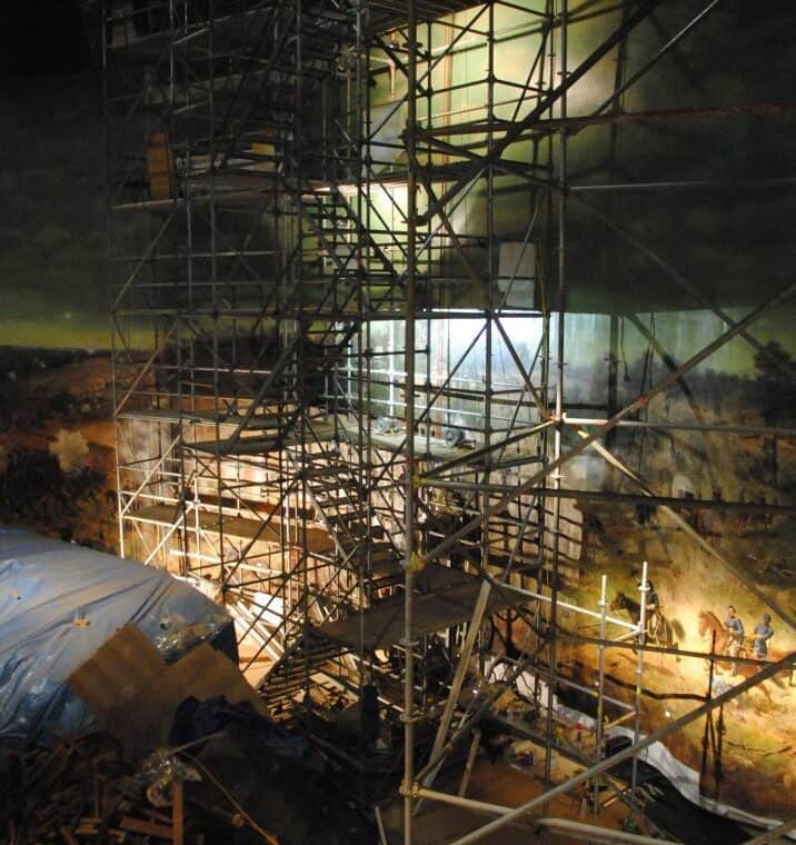 scaffolding tower for strip lining vert, in Cyclorama