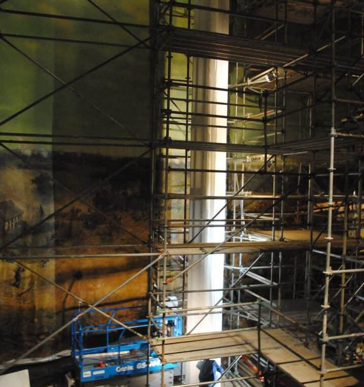 covering and preparing scroll in cyclorama