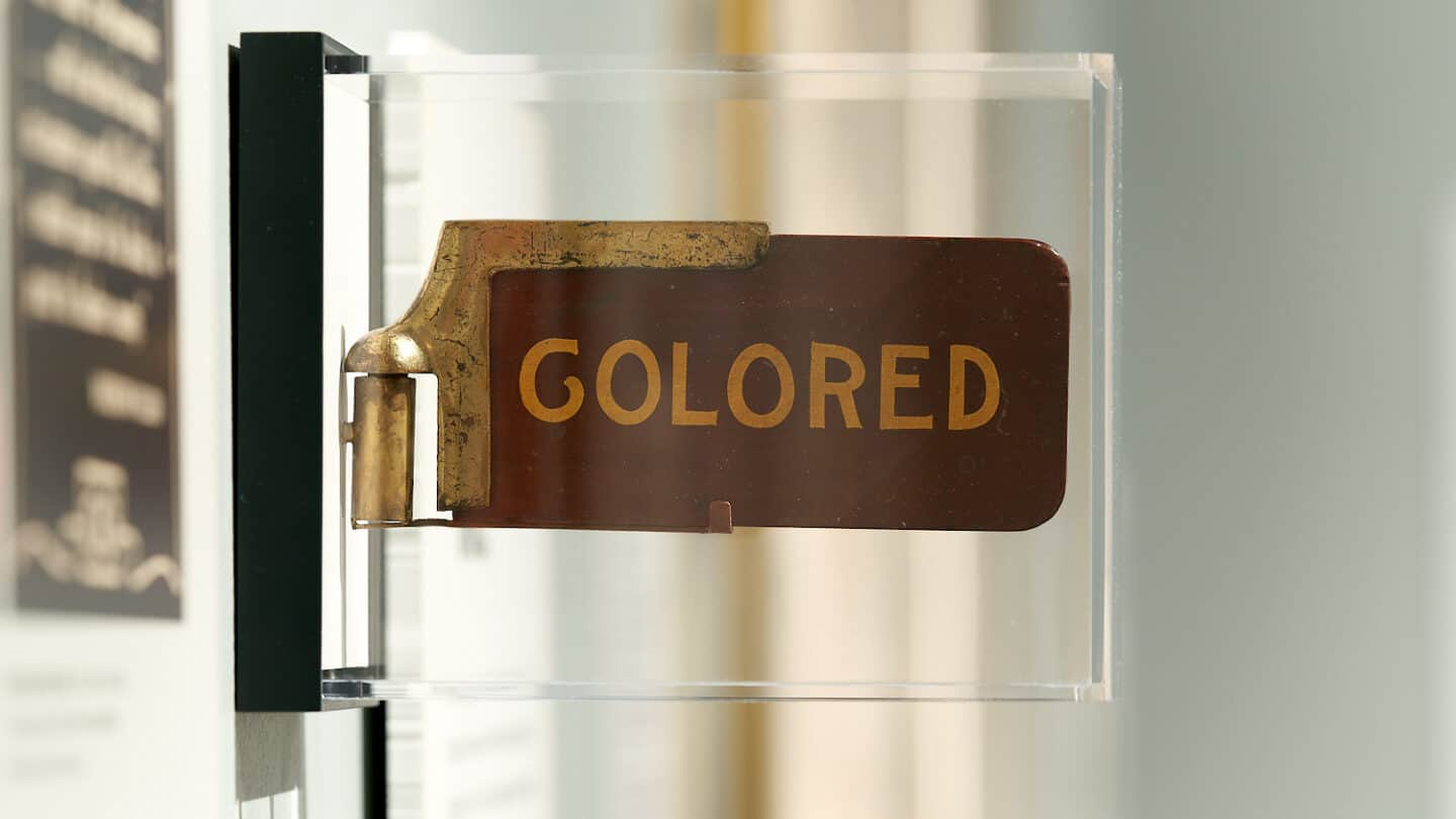 Jim crow colored sign