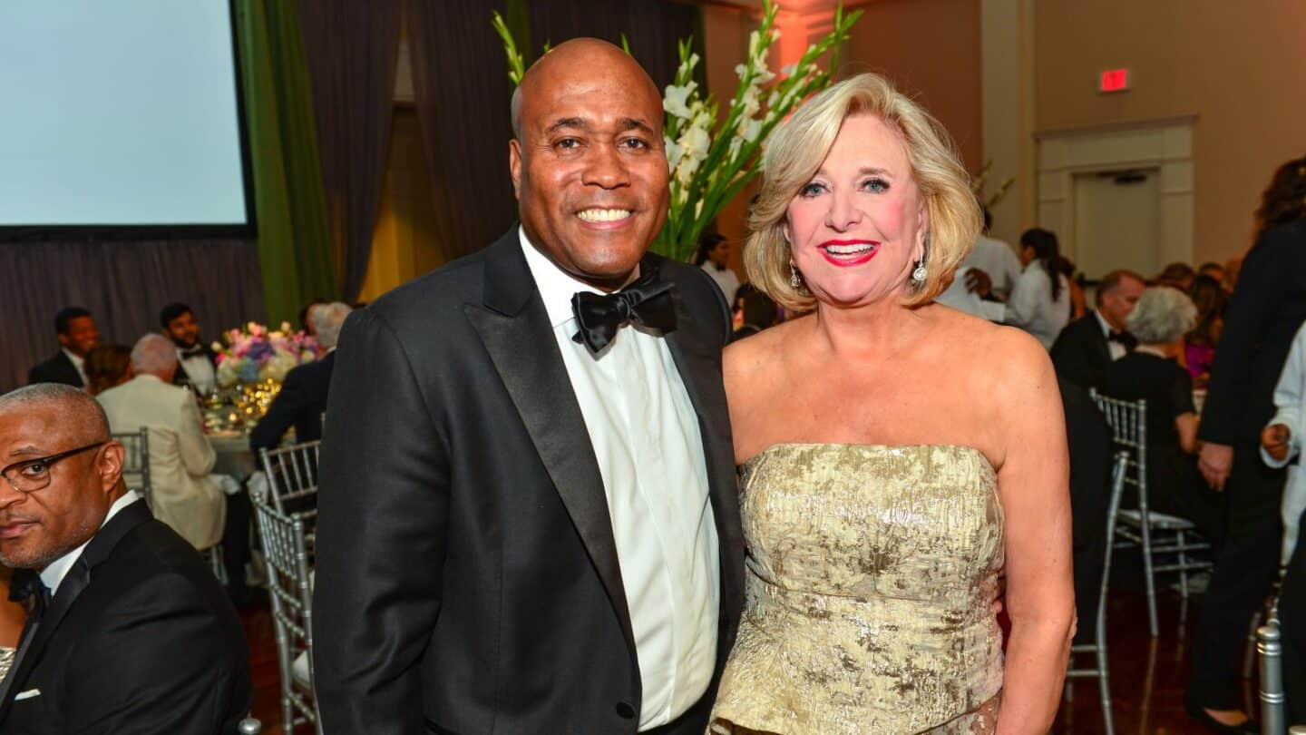 Ernest Greer and Jenny Pruitt guests at Swan house Ball