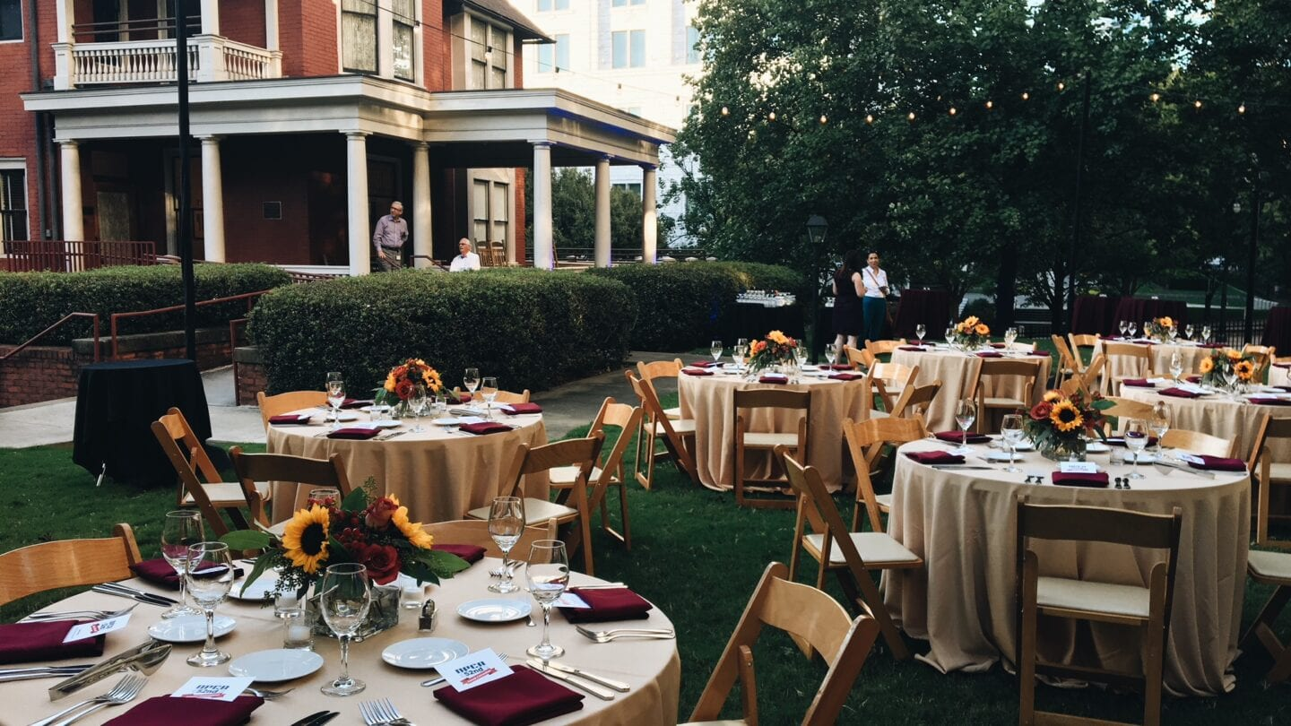 Margaret Mitchell House set up for event