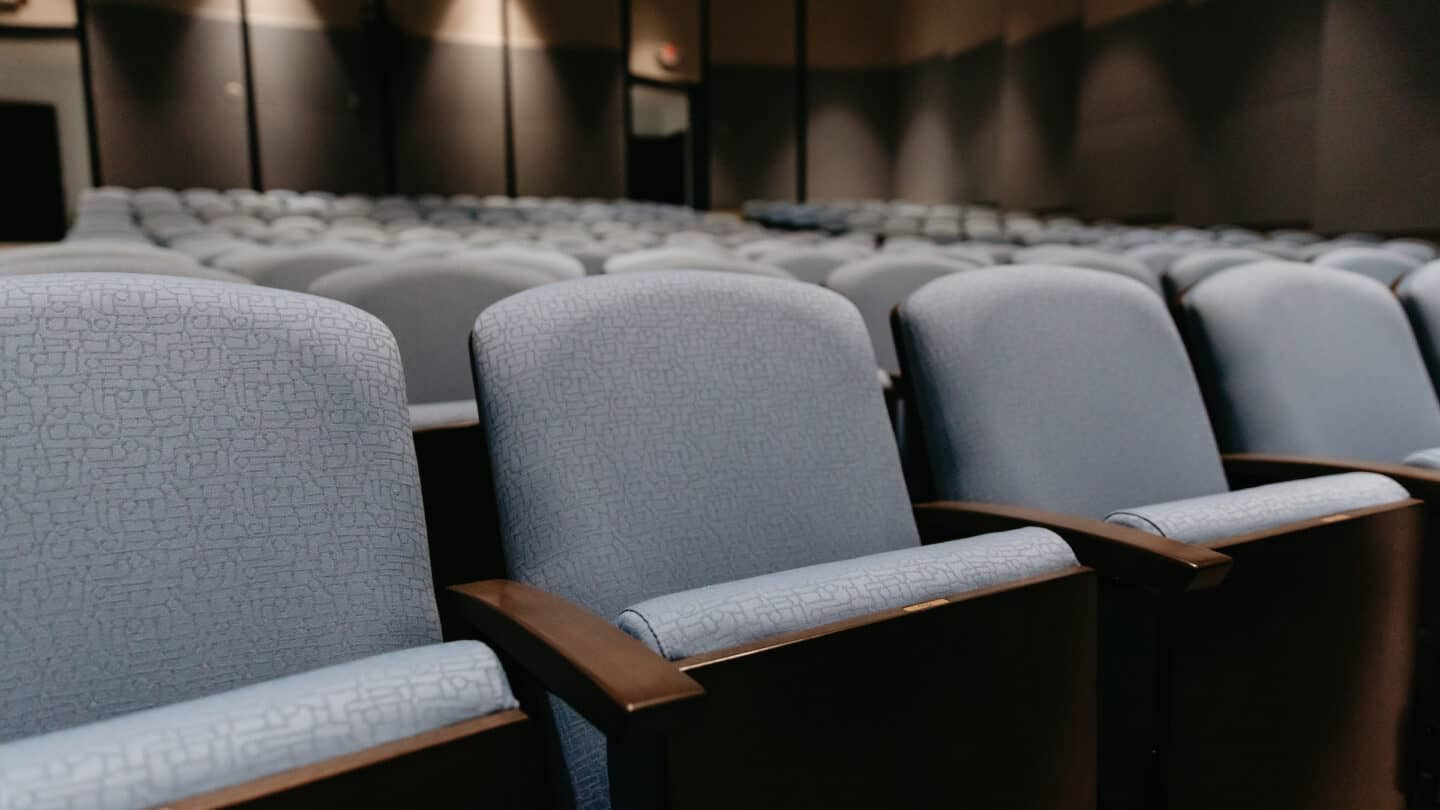 view of McElreath Hall empty chairs