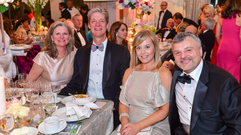 Swan House Ball, Stephanie and David Boehmig, Jennifer and Carlos Pino
