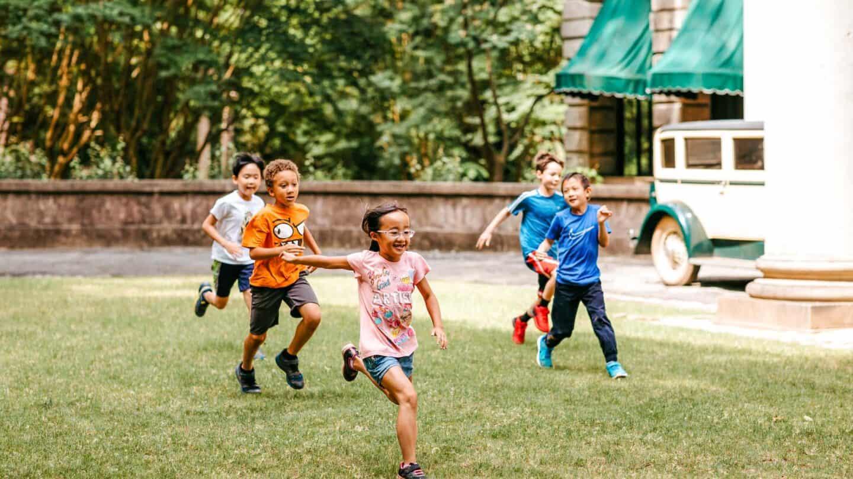 kids running at summer camp 2019