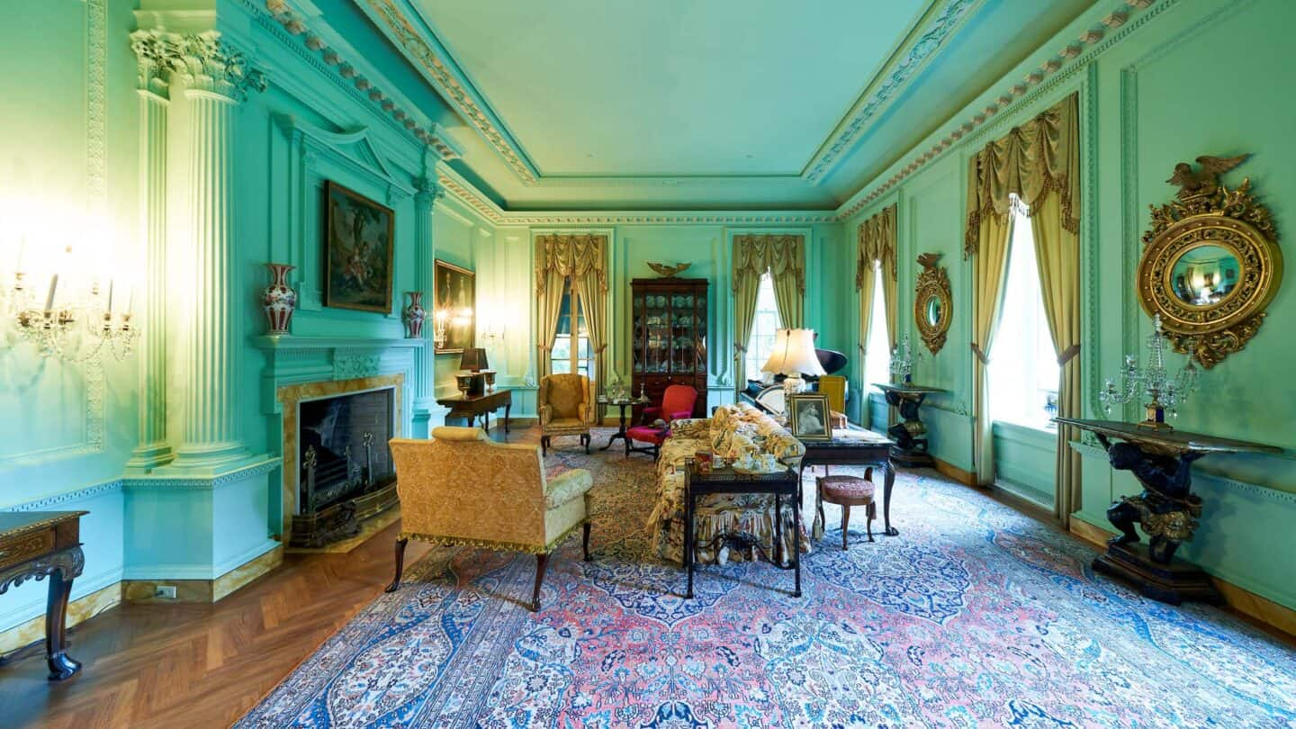 the Swan House living room