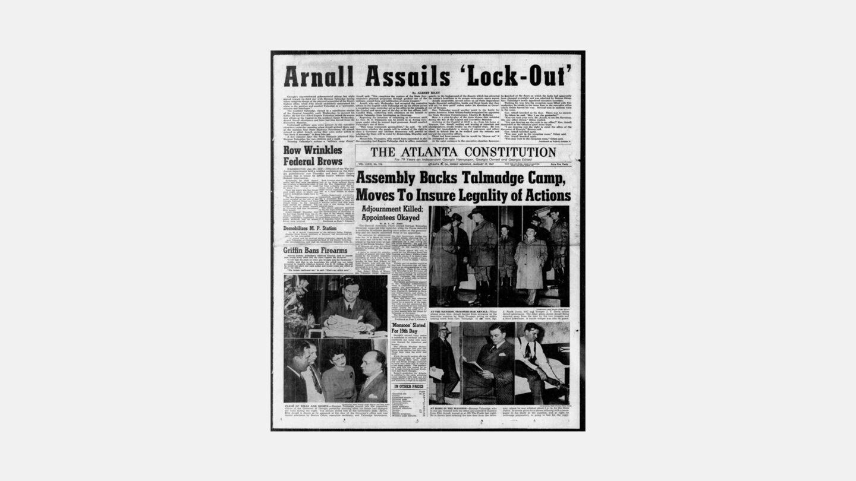 atlanta Constitution headline