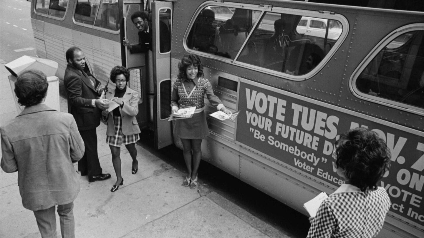 youth campaigning on registering to vote