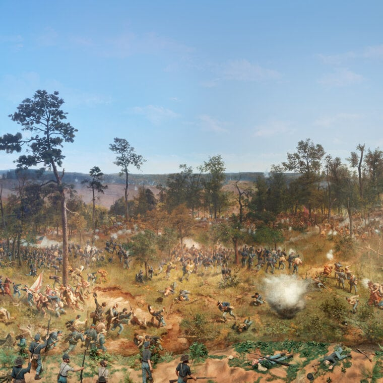 Cyclorama, the Big Picture, troops