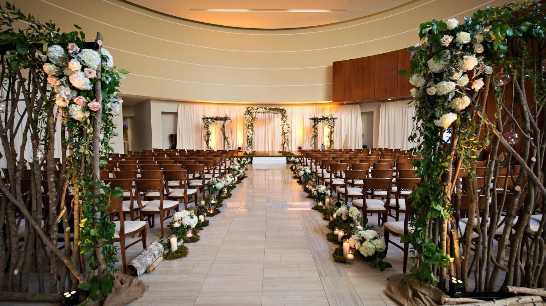 indoor wedding ceremony set up