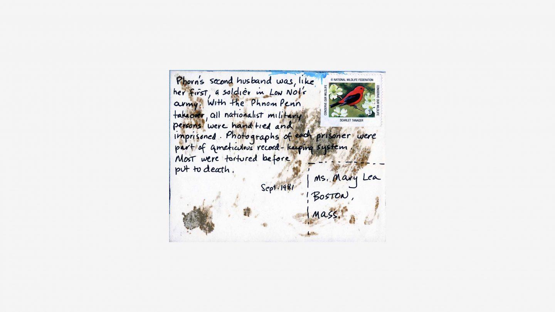 refugees postcard back with stamp
