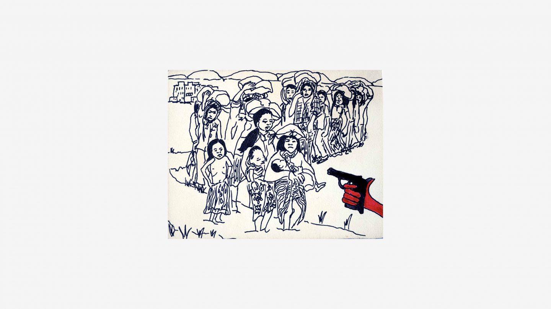 refugees postcard front