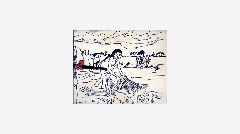 refugees postcard drawing