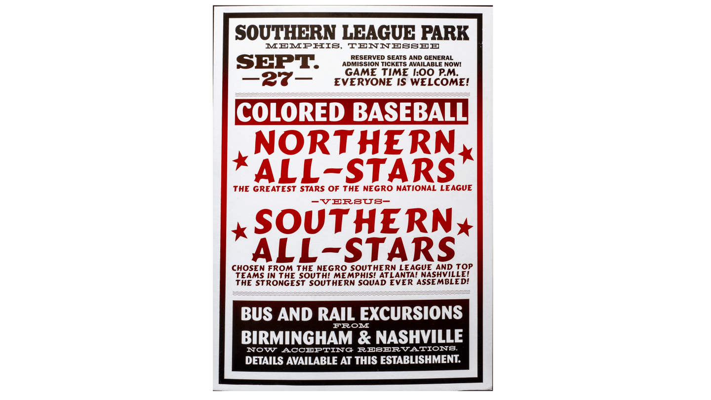 Negro Southern League poster
