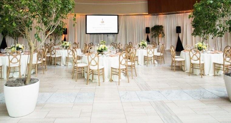 Atrium set up for a wedding