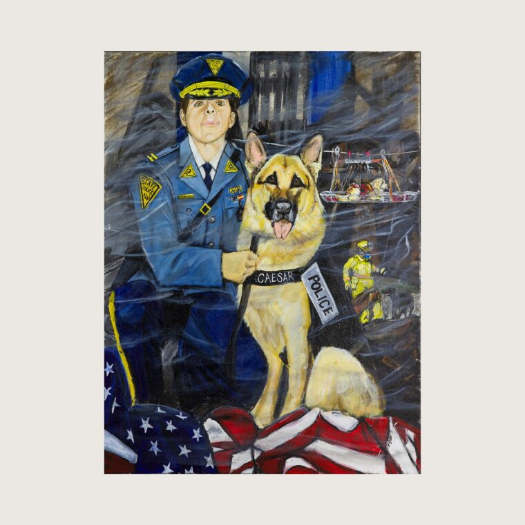 Police Officer & Rescue Dog, Caesar